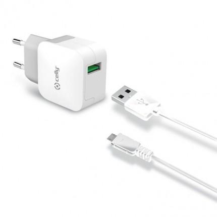 Celly USB võrgulaadija Micro-USB kaabliga, 2.4A