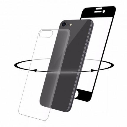 Eiger 3D 9H kaitseklaas servast servani koos taga kaitseklaasiga, Apple iPhone 8'le , musta äärega