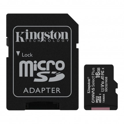 Kingston Canvas Select Plus 16GB microSD Class10 mälukaart