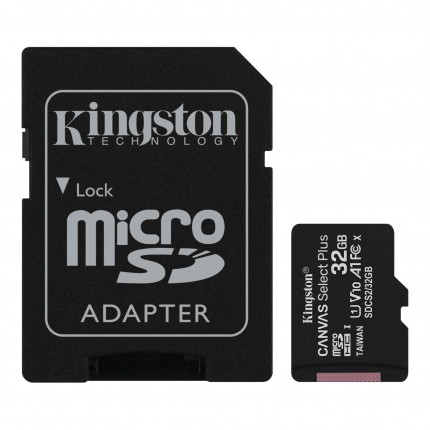 Kingston Canvas Select Plus 32GB microSD Class10 mälukaart