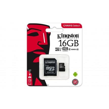 Kingston Canvas Select 16GB MicroSDHC Class10 mälukaart