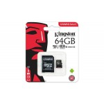 Kingston Canvas Select 64GB MicroSDHC Class10 mälukaart
