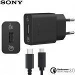 Sony micro-USB ja Type-C võrgulaadija Quick Charger, UCH12W