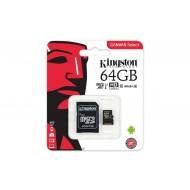 Kingston Canvas Select 64GB MicroSDHC Class10 mälukaart