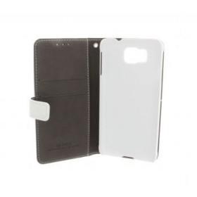 Insmat book-stiilis mobiilikott Samsung Galaxy Alphale, valge