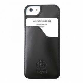 Bugatti ClipOnCover Premium Leather mobiiliümbris Apple iPhone 5'le , must
