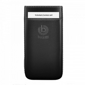 Bugatti Pure Premium pärisnahast mobiilikott Samsung Galaxy S4'le, must