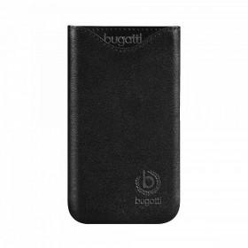 Bugatt SlimFit kott, must nahk, Sony Xperia sola