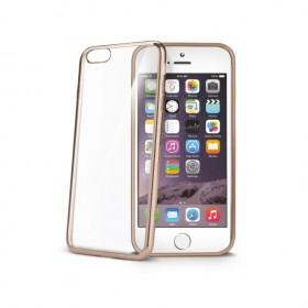 Celly Laser ümbris Apple iPhone 6 / 6S'le, läbipaistev kuldne