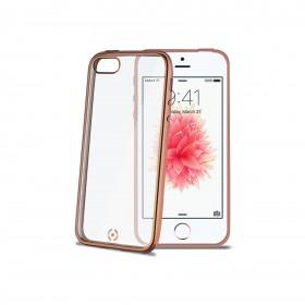 Celly Laser ümbris Apple iPhone 5 / 5S / SE'le, läbipaistev kuldne