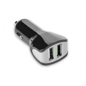 Celly Autolaadija 2 USB pesaga 3.4A, must