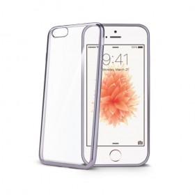 Celly Laser ümbris Apple iPhone 5 / 5S / SE'le, läbipaistev hõbedane