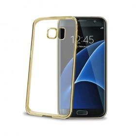 Celly Laser ümbris Samsung Galaxy S7 Edge'le, läbipaistev kuldne