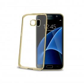 Celly Laser ümbris Samsung Galaxy S7'le, läbipaistev kuldne