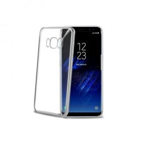 Celly Laser ümbris Samsung Galaxy S8'le, läbipaistev hõbedane