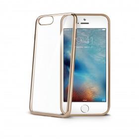 Celly Laser ümbris Apple iPhone 7 Plusile, läbipaistev kuldne