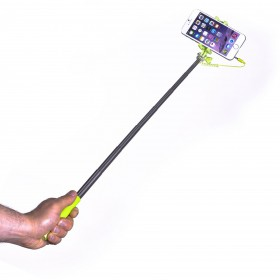 Celly Selfie Stick - mini, 3,5mm juhtmega, roheline