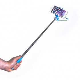 Celly Selfie Stick - mini, 3,5mm juhtmega, sinine