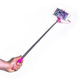 Celly Selfie Stick - mini, 3,5mm juhtmega, roosa