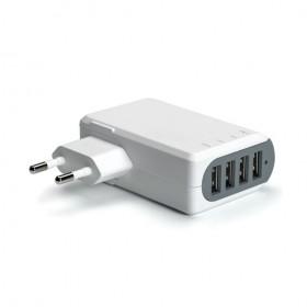 Celly Võrgulaadija 4 USB pesaga 4,8A, valge