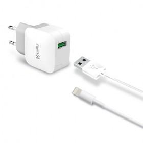 Celly USB võrgulaadija Lightning kaabliga, 2.4A