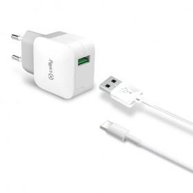 Celly USB võrgulaadija Type-C kaabliga, 2.4A