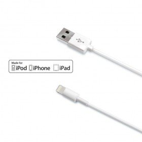 Celly Apple Lightning - USB kaabel 1m, valge