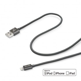 Celly Apple Lightning - USB tekstiilkattega kaabel 1m