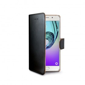 Celly Wally rahakott stiilis mobiiliümbris Samsung Galaxy A3 (2016), must