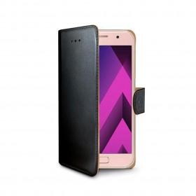 Celly Wally rahakott stiilis mobiiliümbris Samsung Galaxy A3 (2017), must