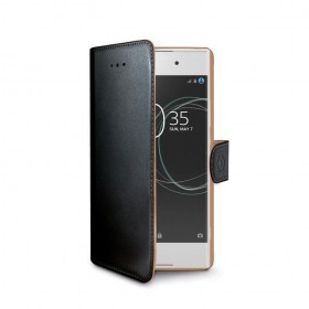 Celly Wally mobiiliümbris Sony Xperia XA1'le, must