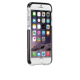 Case-Mate Tough Air ümbris Apple iPhone 6 / 6S'le, läbipaistev must