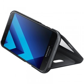 Samsung Galaxy A5-2017 mobiilitikott S-View Standing Cover, must