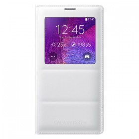 Samsung Galaxy Note 4 mobiilitikott S-View Cover, valge