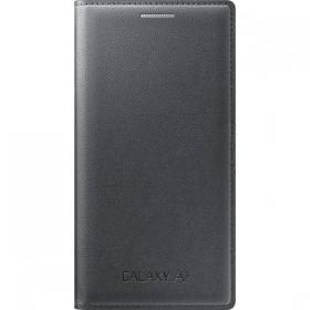 Samsung Galaxy A3 ümbris Flip Wallet Cover, must