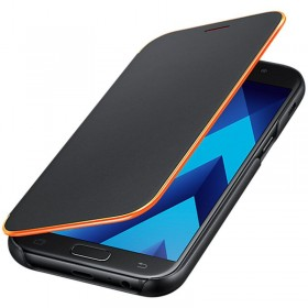 Samsung Galaxy A3 (2017) telefoniümbris Neon Flip Cover, must