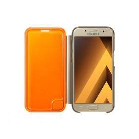 Samsung Galaxy A3 (2017) telefoniümbris Neon Flip Cover, kuldne