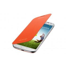 Samsung Galaxy S4 mobiilitikott Flip Cover, oranž