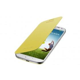 Samsung Galaxy S4 mobiilitikott Flip Cover, kollane