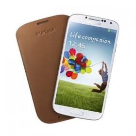 Samsung Galaxy S4 pärisnahast mobiilikott, pruun