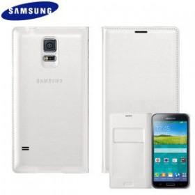 Samsung Galaxy S5 ümbris Flip Wallet Cover, valge