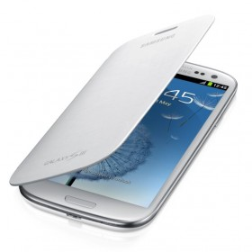 Samsung Galaxy S3 mobiilitikott Flip Cover, valge