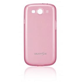 Samsung Galaxy S3 mobiilitikott Protective Cover, läbipaistev roosa
