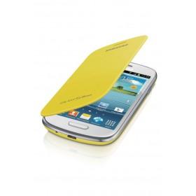 Samsung Galaxy S3 mini mobiilitikott Flip Cover, kollane