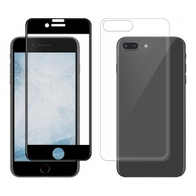"""Eiger 3D 9H kaitseklaas servast servani koos taga kaitseklaasiga,360"""" kaitse, Apple iPhone 8 Plusile , musta äärega"""