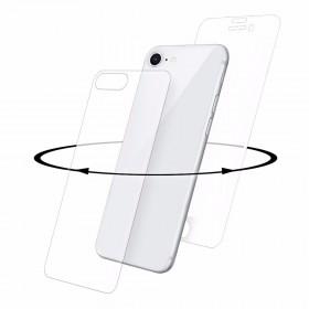 Eiger 3D 9H kaitseklaas servast servani koos taga kaitseklaasiga, Apple iPhone 8'le , valge äärega