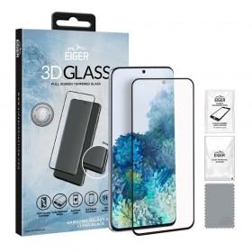 Eiger 3D Fullscreen Glass - 9H kaitseklaas servast servani, Samsung Galaxy S20'le , musta äärega