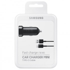 Samsungi Adaptive Fast Charge USB Type-C Mini autolaadija, must