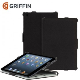 Griffin Journal ümbris iPad Airile, must