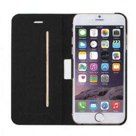 Mozo book-stiilis kott Apple iPhone 6'le, must